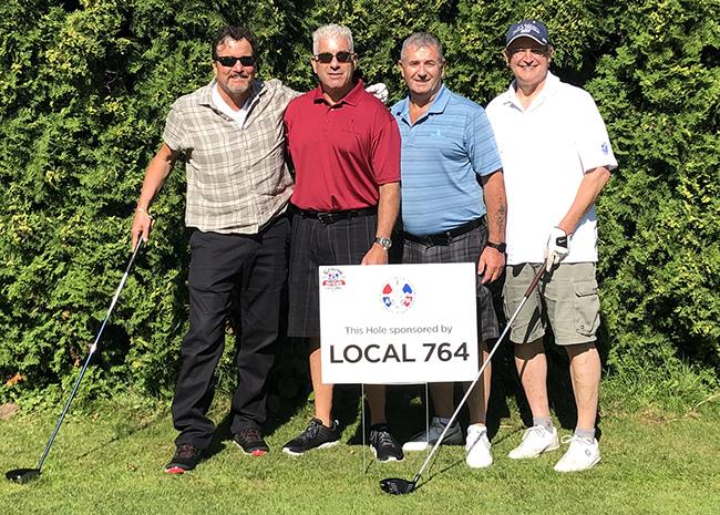 GVP Mark Blondin, GDA Director Russ Gittlen, Canadian GVP Stan Pickthall, DL 250 DBR Walter Gerlach